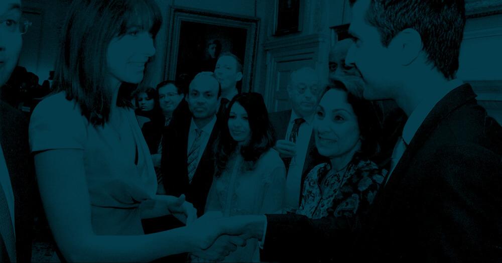 Dr Aseem Mahlotra shaking hands